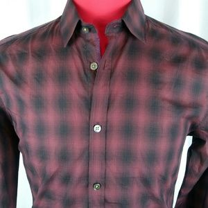 Ted Baker London Shirt 3 Red/Black Checks Btn Dn